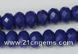 CCN155 15.5 inches 8*12mm faceted rondelle candy jade beads
