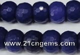 CCN173 15.5 inches 12*16mm faceted rondelle candy jade beads