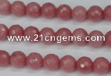 CCN1832 15 inches 8mm faceted round candy jade beads wholesale