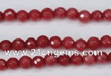 CCN1840 15 inches 4mm faceted round candy jade beads wholesale