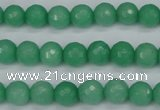 CCN1882 15 inches 8mm faceted round candy jade beads wholesale