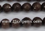 CCN1934 15 inches 12mm faceted round candy jade beads wholesale