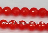 CCN1953 15 inches 10mm faceted round candy jade beads wholesale