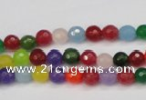 CCN1980 15 inches 4mm faceted round candy jade beads wholesale