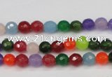 CCN1981 15 inches 6mm faceted round candy jade beads wholesale