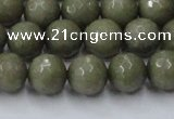 CCN2025 15 inches 10mm faceted round candy jade beads wholesale