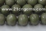 CCN2026 15 inches 12mm faceted round candy jade beads wholesale