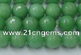 CCN2032 15 inches 10mm faceted round candy jade beads wholesale
