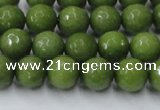 CCN2038 15 inches 8mm faceted round candy jade beads wholesale