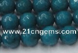 CCN2047 15 inches 12mm faceted round candy jade beads wholesale