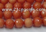 CCN2052 15 inches 8mm faceted round candy jade beads wholesale