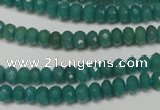 CCN2100 15.5 inches 4*6mm faceted rondelle candy jade beads