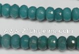 CCN2102 15.5 inches 6*10mm faceted rondelle candy jade beads