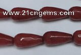 CCN2149 15.5 inches 10*20mm faceted teardrop candy jade beads