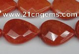CCN2328 15.5 inches 18*25mm faceted flat teardrop candy jade beads