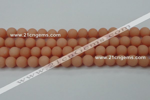CCN2406 15.5 inches 4mm round matte candy jade beads wholesale
