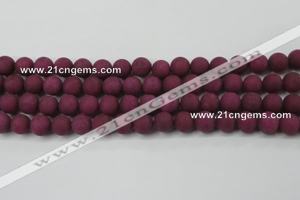 CCN2445 15.5 inches 8mm round matte candy jade beads wholesale