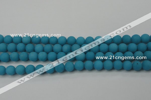 CCN2451 15.5 inches 8mm round matte candy jade beads wholesale