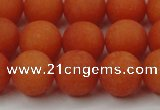 CCN2487 15.5 inches 12mm round matte candy jade beads wholesale