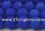 CCN2493 15.5 inches 12mm round matte candy jade beads wholesale
