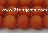 CCN2507 15.5 inches 14mm round matte candy jade beads wholesale