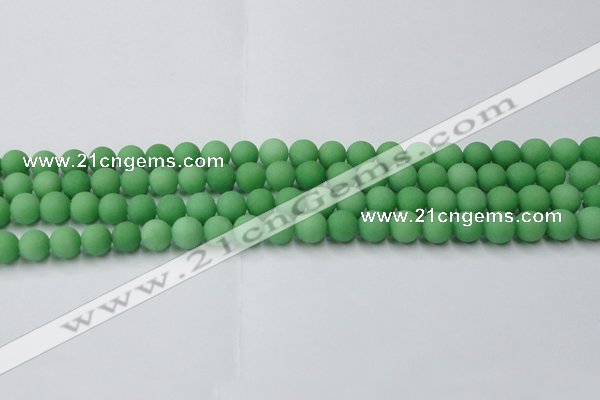 CCN2538 15.5 inches 8mm round matte candy jade beads wholesale