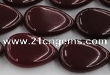 CCN3895 15.5 inches 18*25mm flat teardrop candy jade beads