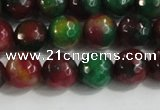 CCN4011 15 inches 8mm faceted round candy jade beads wholesale