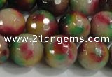 CCN4014 15 inches 14mm faceted round candy jade beads wholesale