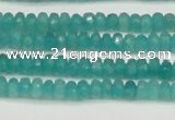 CCN4106 15.5 inches 2*4mm faceted rondelle candy jade beads