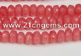 CCN4125 15.5 inches 4*6mm faceted rondelle candy jade beads