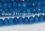 CCN4165 15.5 inches 5*8mm faceted rondelle candy jade beads