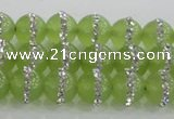 CCN4621 15.5 inches 8mm round candy jade with rhinestone beads