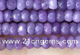 CCN5110 15 inches 3*4mm faceted rondelle candy jade beads