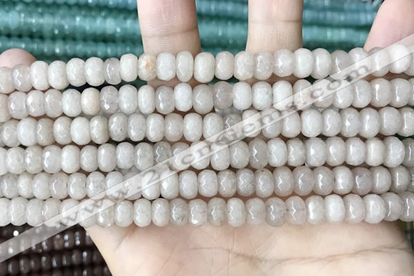 CCN5133 15 inches 5*8mm faceted rondelle candy jade beads