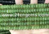 CCN5158 15 inches 5*8mm faceted rondelle candy jade beads