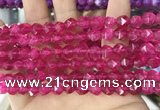 CCN5257 15 inches 8mm faceted nuggets candy jade beads