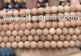 CCN5589 15 inches 8mm round matte candy jade beads Wholesale