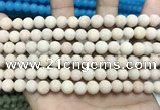 CCN5600 15 inches 8mm round matte candy jade beads Wholesale