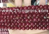 CCN5728 15 inches 8mm faceted round candy jade beads