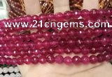 CCN5731 15 inches 8mm faceted round candy jade beads