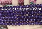 CCN5737 15 inches 8mm faceted round candy jade beads