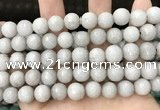 CCN5764 15 inches 10mm faceted round candy jade beads