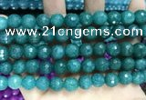 CCN5783 15 inches 10mm faceted round candy jade beads