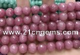 CCN5803 15 inches 10mm faceted round candy jade beads