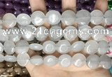 CCN5855 15 inches 15mm flat round candy jade beads Wholesale