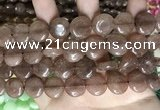 CCN5866 15 inches 15mm flat round candy jade beads Wholesale
