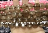 CCN5868 15 inches 15mm flat round candy jade beads Wholesale