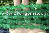 CCN5927 15 inches 12*12mm heart candy jade beads Wholesale
