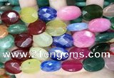 CCN5978 15 inches 13*18mm faceted oval candy jade beads